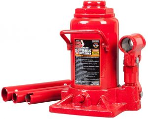 BIG RED T91207A Torin Hydraulic Stubby Low Profile Welded Bottle Jack