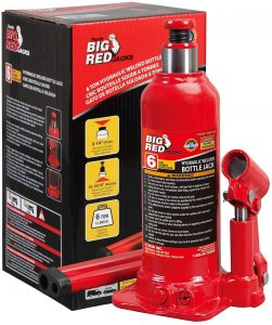 BIG RED T90603B Torin Hydraulic Welded Bottle Jack